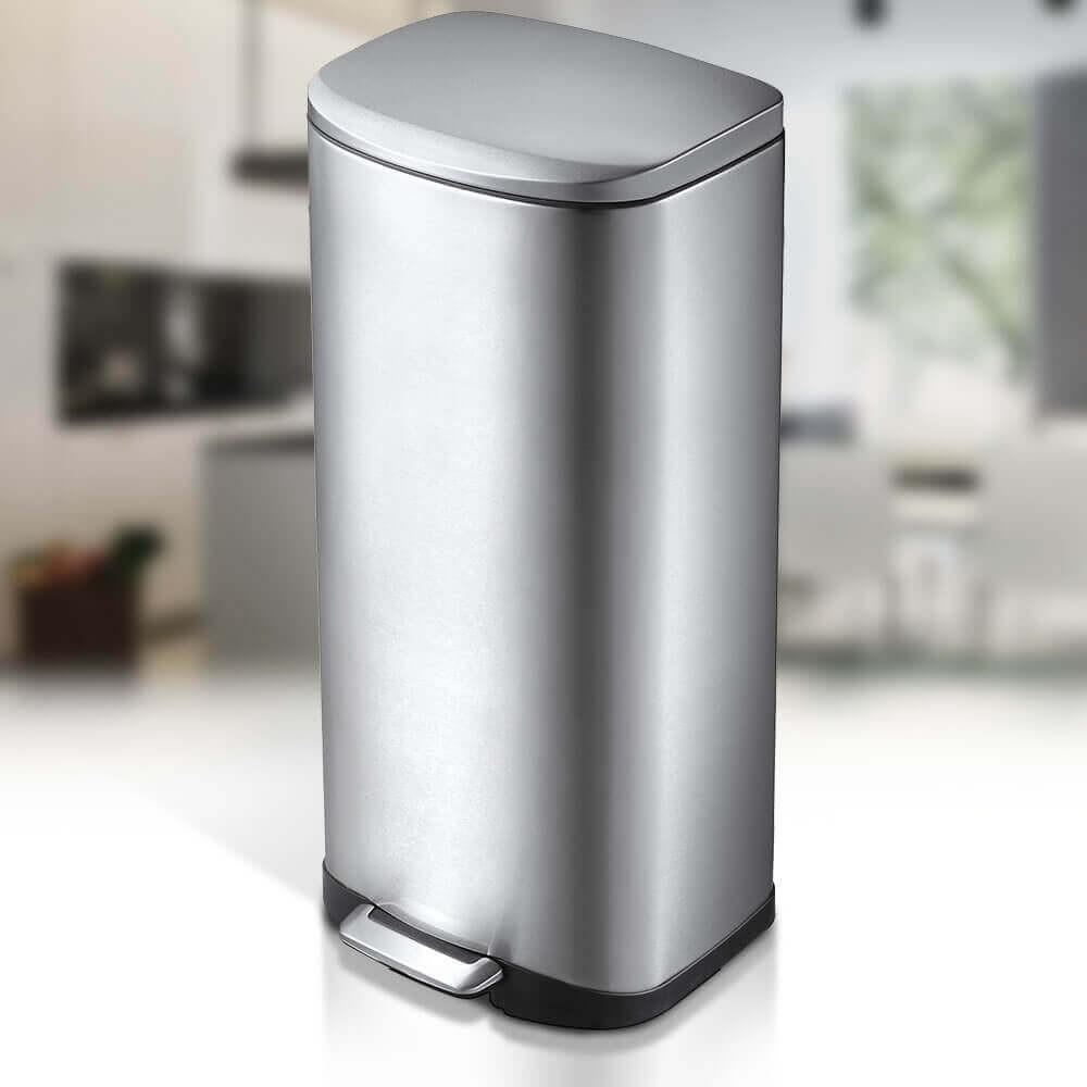 Della 50 litre | Flat Back Large Kitchen Pedal Bin | Autobin