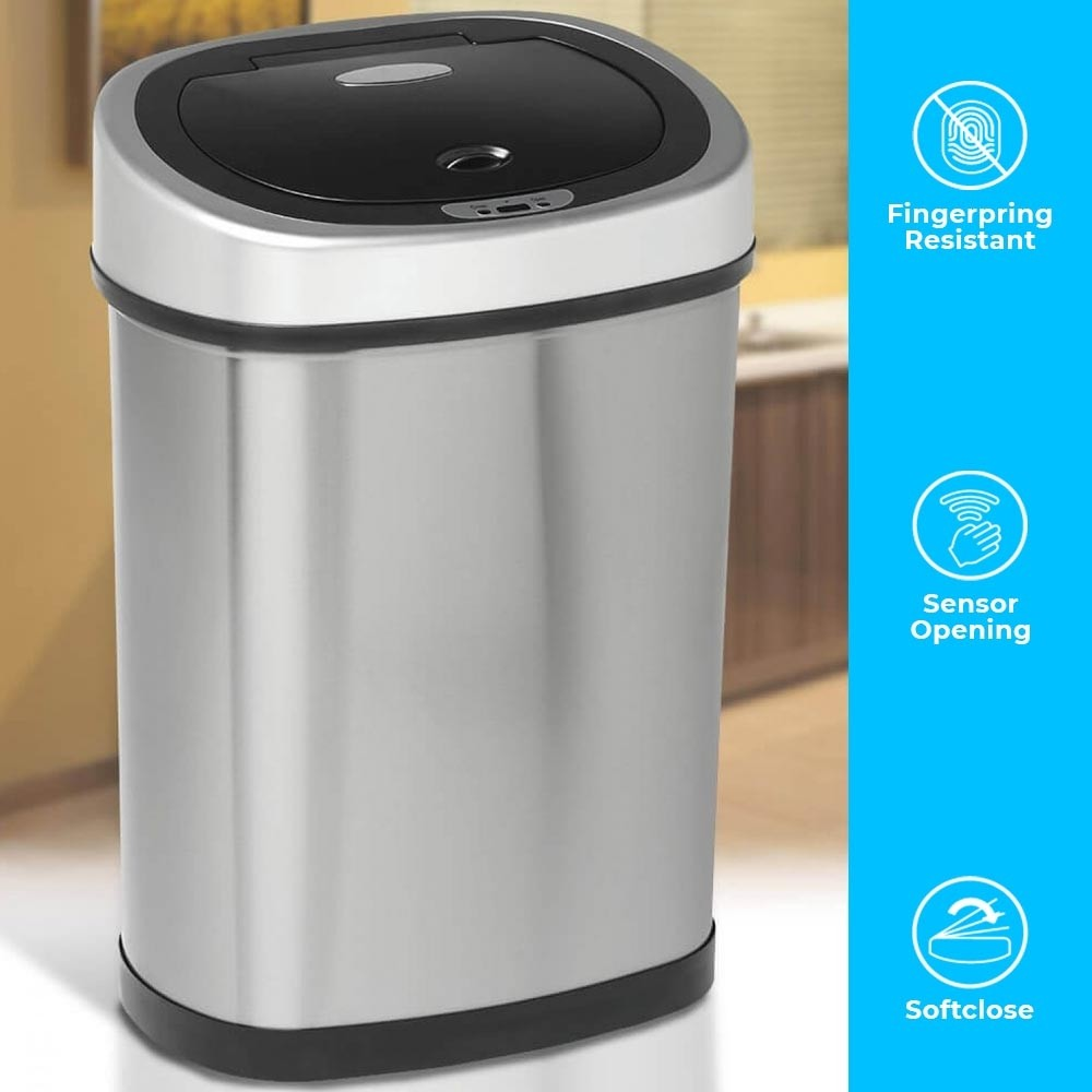42 Litre Oval Series Stainless Steel Autobin