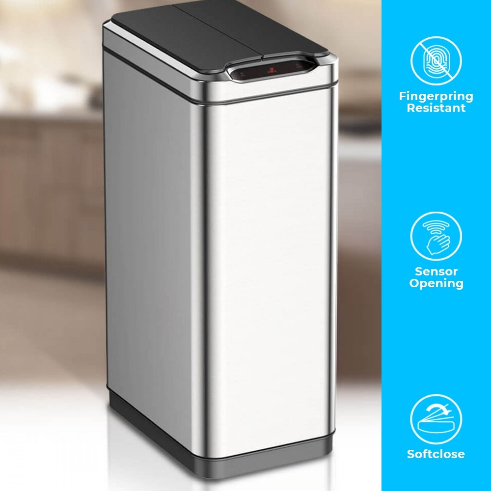 80 LITRE SLIM NARROW KITCHEN DUST BIN