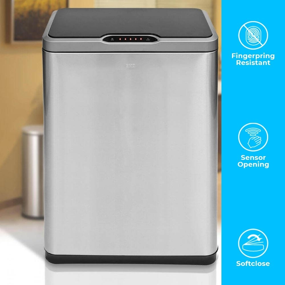 40L TWIN DOUBLE COMPARTMENT KITCHEN RECYCLING BIN