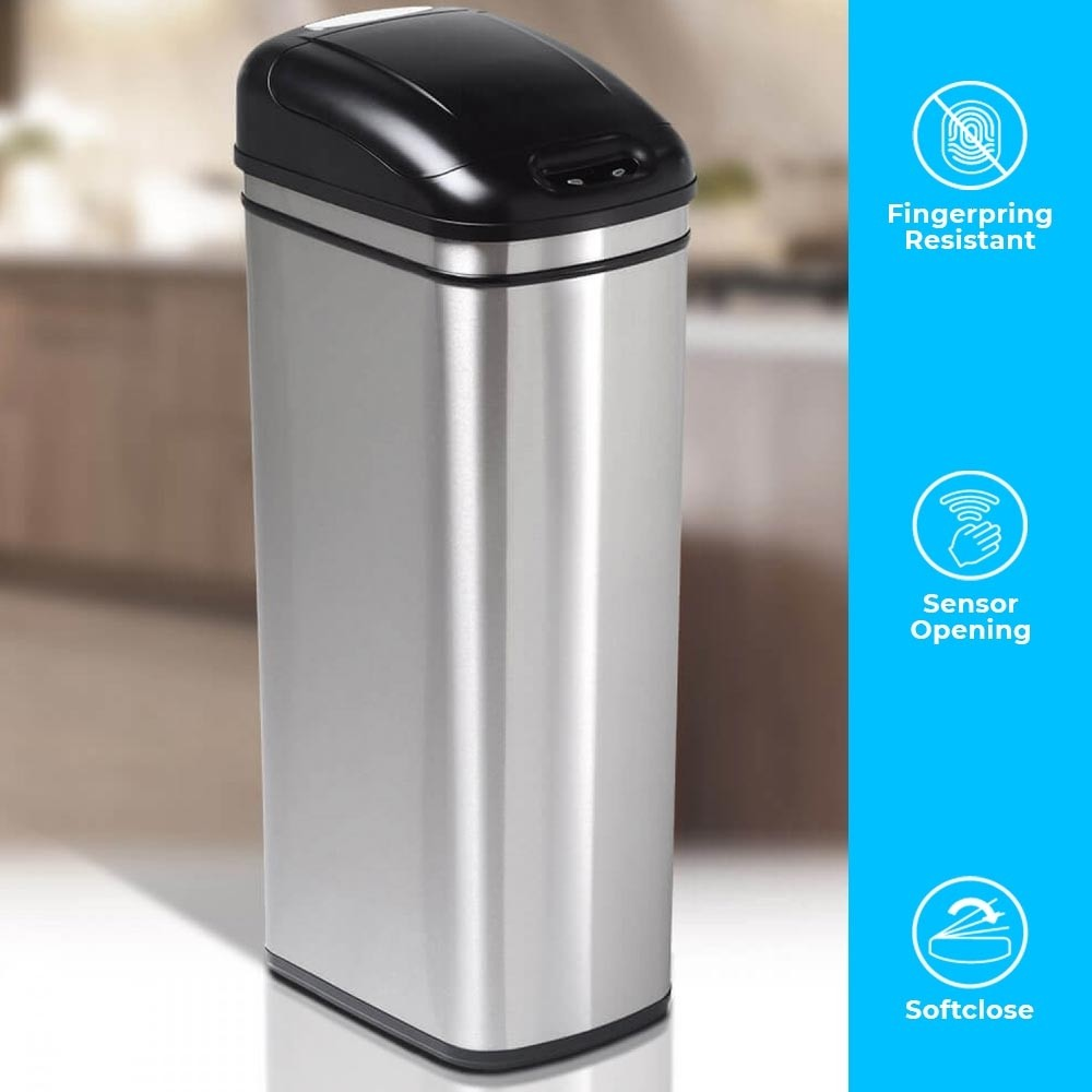 60L ULTRA SLIM KITCHEN BIN