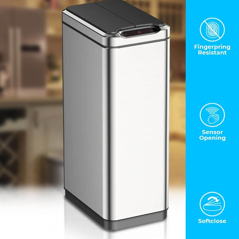 80 LITRE BUTTERFLY SLIMLINE KITCHEN WASTE BIN