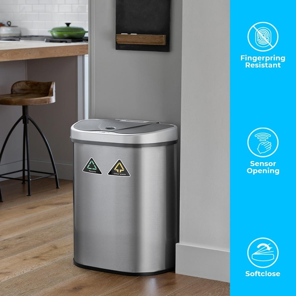 Presenting the 70L high capacity Recycling bin with 2 different compartments