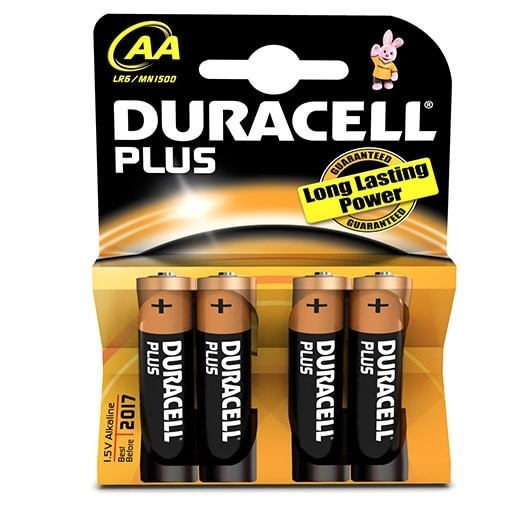 "DURACELL BATTERIES SIZE ""AA"" PACK 2"