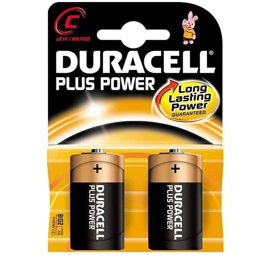 "DURACELL BATTERIES SIZE ""C"" PACK 2"