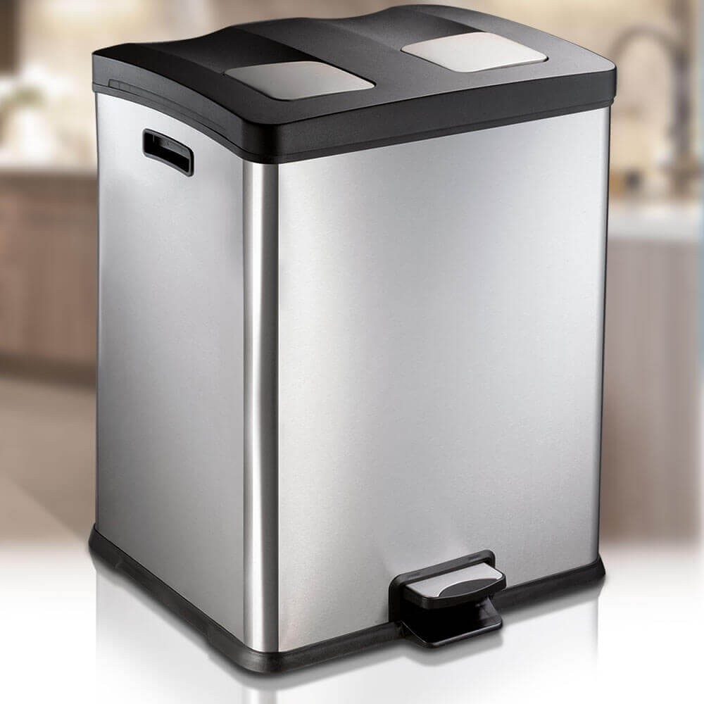 REJOICE 60 LITRE AUTOBIN - KITCHEN RECYCLING PEDAL BIN