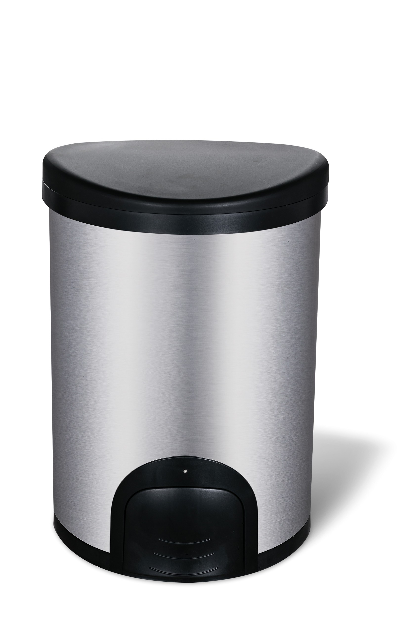 12L Toe tap hands, pedal & TOUCH free kitchen waste bin with self-opening and closing lid