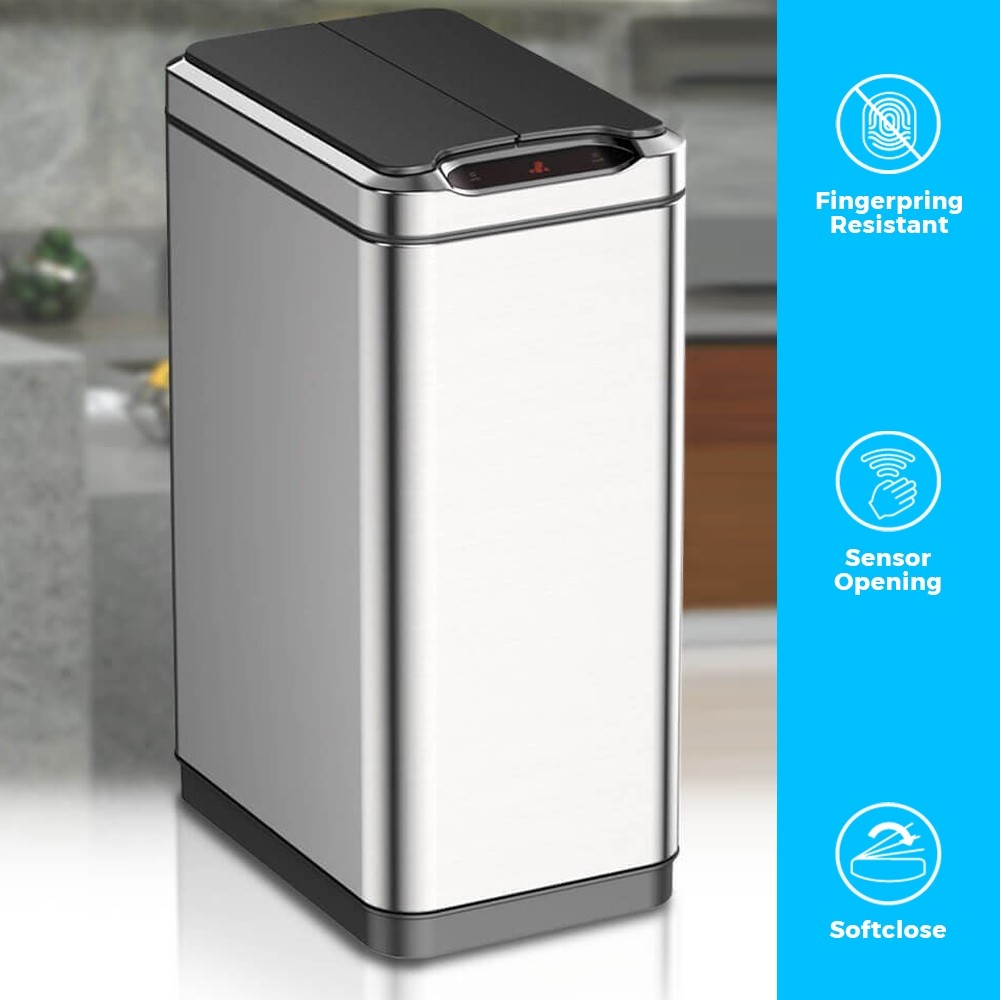 Slimline Dual Capacity Smart Bin with Innovative Style