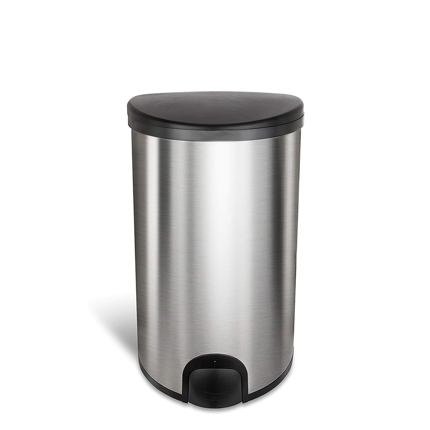 50L Toe tap hands-touch or pedal free, Kitchen pedal less automatic rubbish bins with self-opening lids